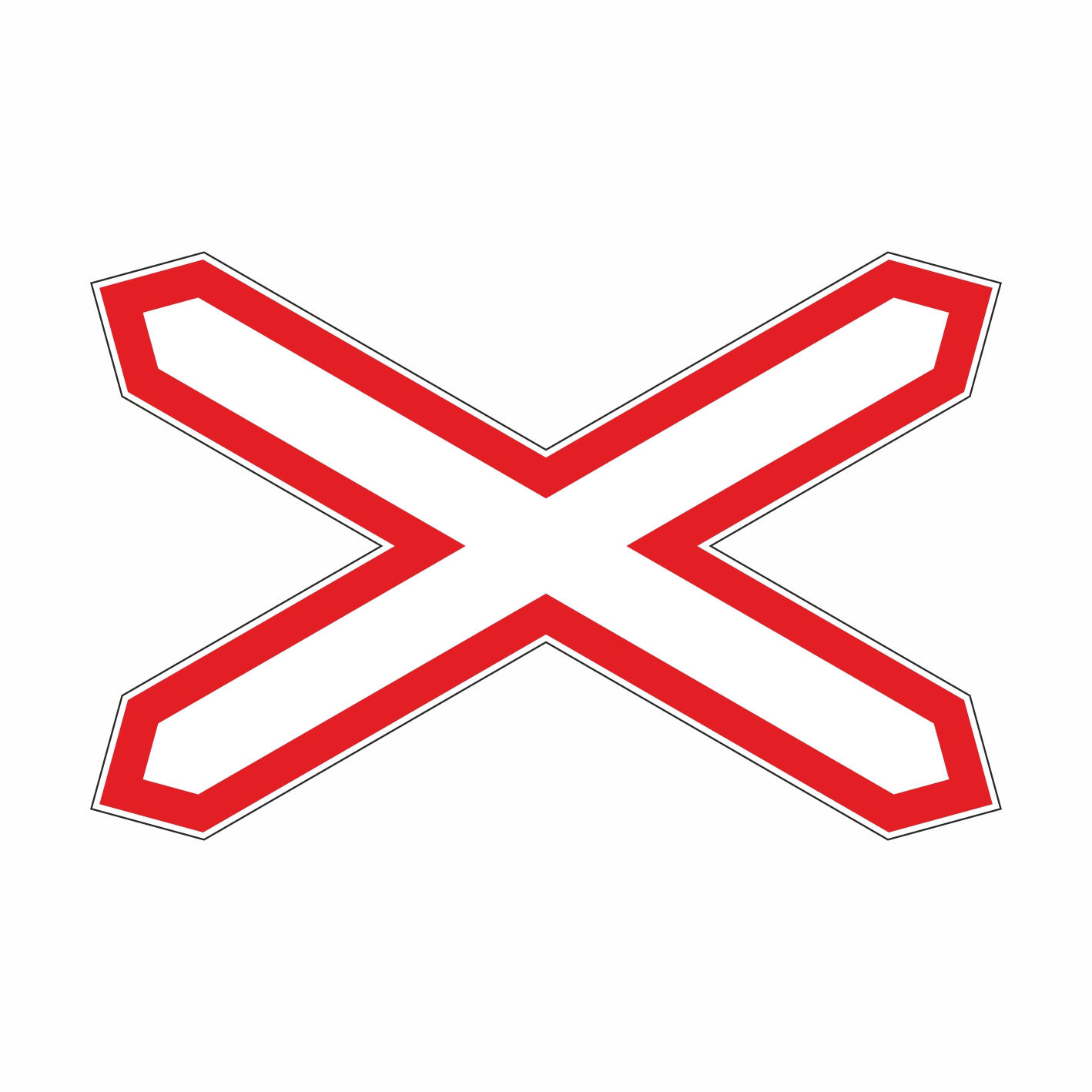 Знак однопутная железная дорога 1.3.1
