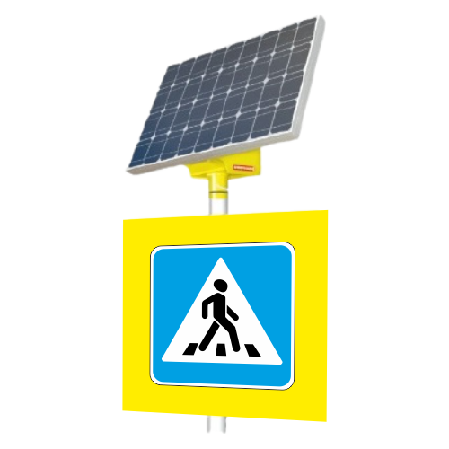 Автономный светодиодный знак 5.19.2 Пешеходный переход (с внутр. подсветкой) [На солнечных батареях]
