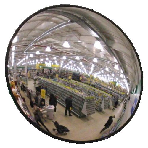 Обзорное универсальное сферическое зеркало круглое Ø-300