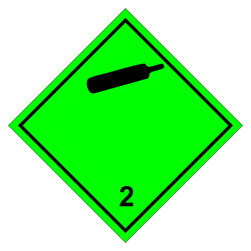 Знак опасности. Класс 2.1. Невоспламеняющиеся газы