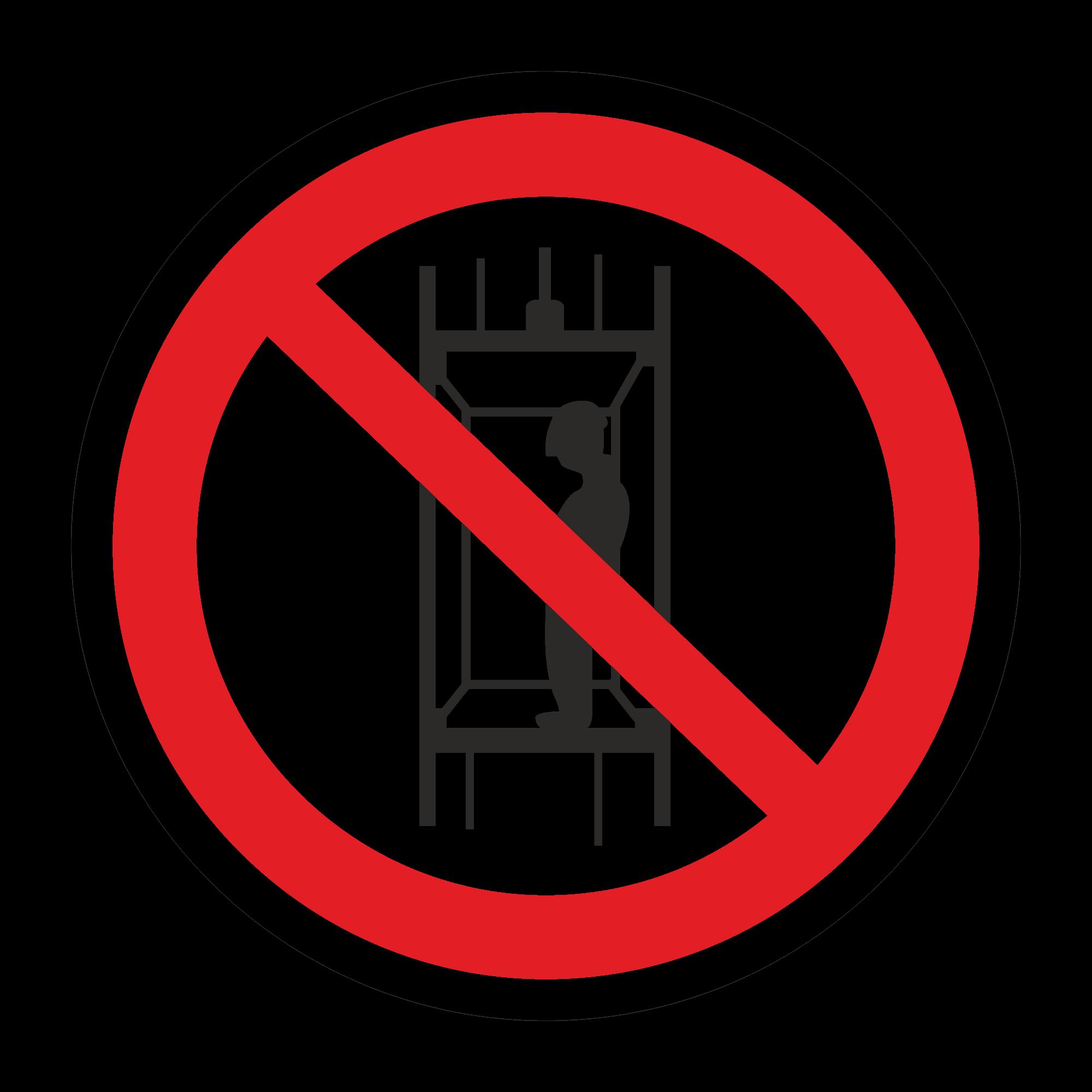 Р13 Запрещается подъем (спуск) людей по шахтному стволу