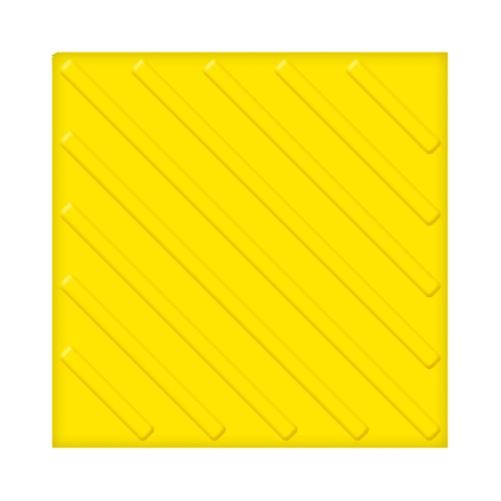 Тактильная плитка ПВХ с диагональным рифом (300 мм) самоклеящаяся