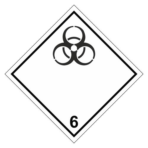 Знак опасности. Класс 6.2. Инфекционные вещества