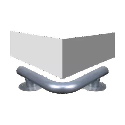 Колесоотбойник металлический для защиты колонн усиленный КУ-5