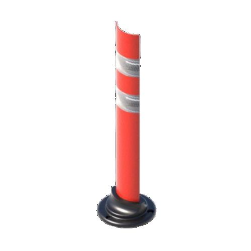 Пластиковый дорожный сигнальный столбик С2П дугообразное сечение