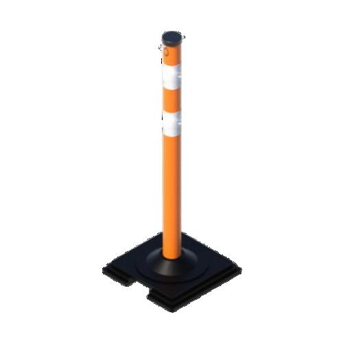 Сигнальный столбик 1000×63мм упругий на резиновой подставке