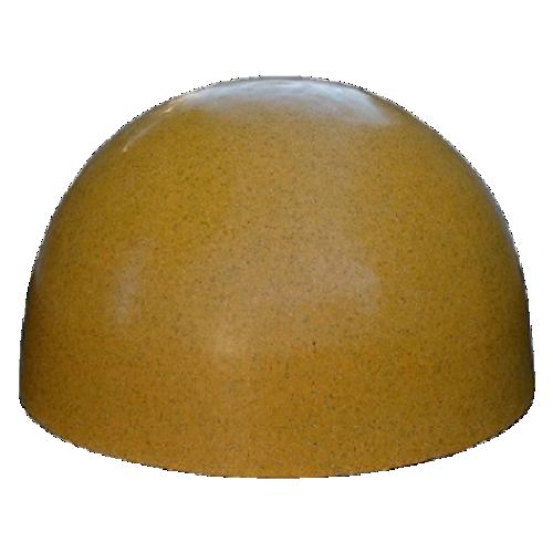 Бетонная полусфера БПС-13 [Под гранит, желтая, антипарковочная]
