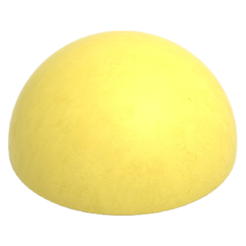 Бетонная полусфера БПС-17 [Желтая, антипарковочная]