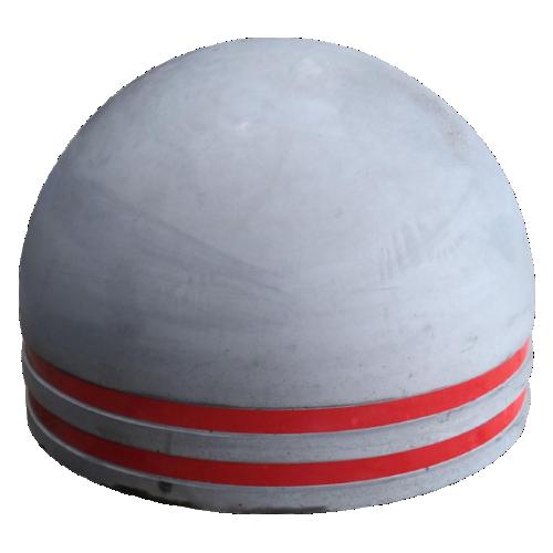 Бетонная полусфера БПС-6 [Со светоотражателем, антипарковочная]