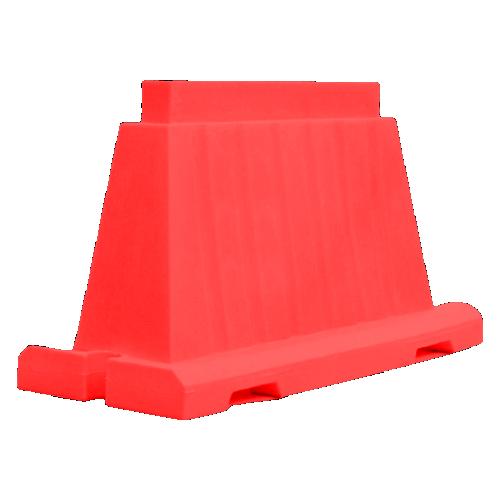 Дорожный блок водоналивной, пластиковый БВ-В-1.2-К [красный, вкладывающийся]