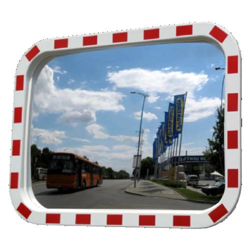 Обзорное уличное прямоугольное  зеркало DL-600х800