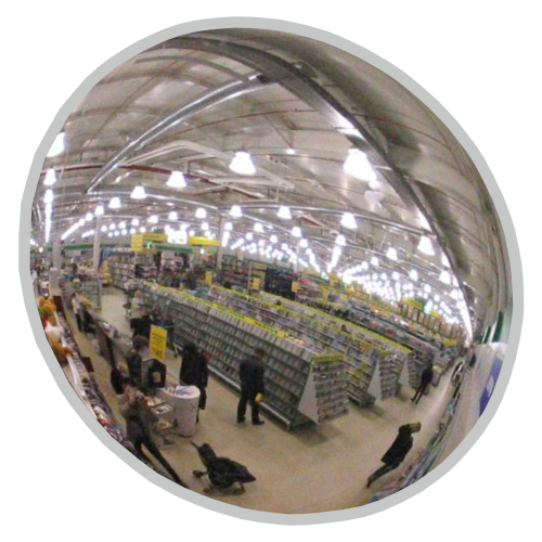 Обзорное универсальное зеркало сферическое круглое диаметр Ø-500-1