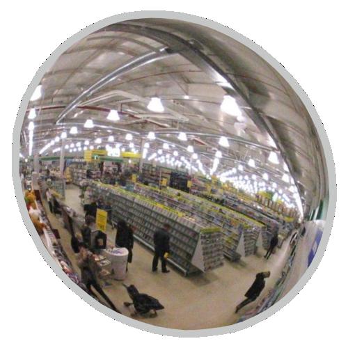 Обзорное универсальное зеркало сферическое круглое диаметр Ø-600-1