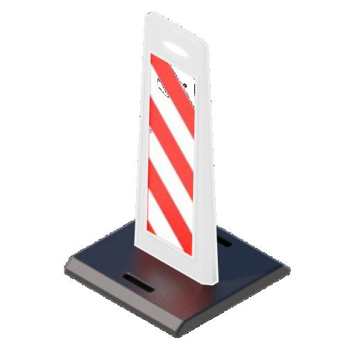 """Пластиковое дорожное ограждение """"Солдатик"""" с верхней ручкой на резиновой подставке [Белый]"""