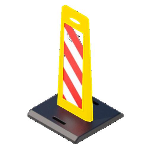 """Пластиковое дорожное ограждение """"Солдатик"""" с верхней ручкой на резиновой подставке [Желтый]"""