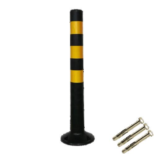 Столбик сигнальный упругий ССУ-750-Ч с крепежом [черный, мягкий, гибкий, парковочный дорожный столбик]