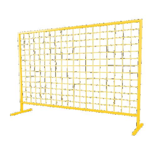 Временное строительное ограждение переносное ОС-3 [желтое]