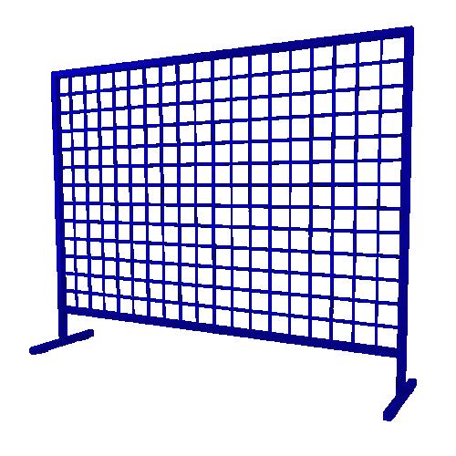 Временное строительное ограждение переносное ОС-2 [синее]