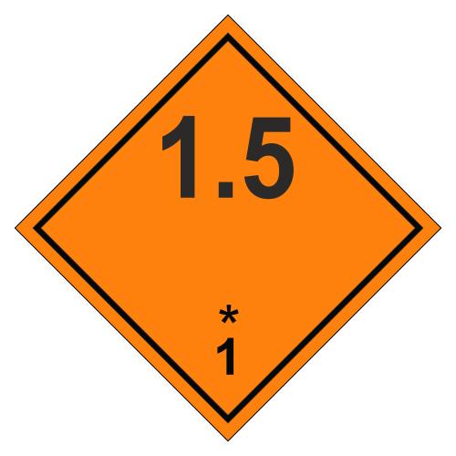 Знак опасности. Класс 1.5. Взрывчатое вещество