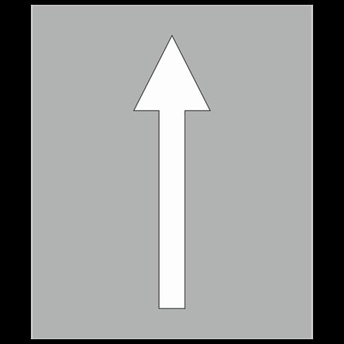 """Трафарет для нанесения дорожной разметки 1.18 """"Движение по полосе прямо"""""""