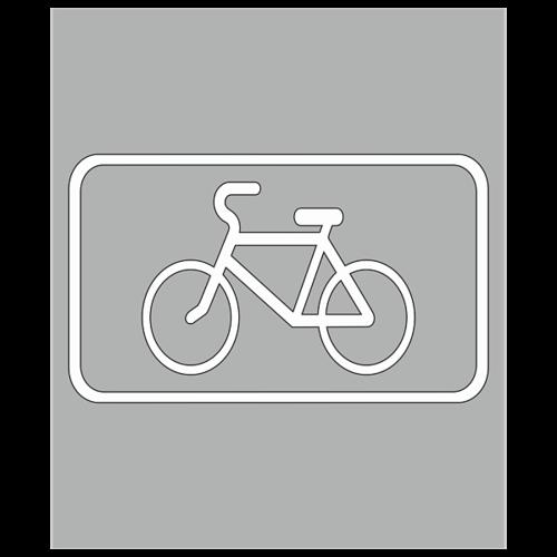 """Трафарет для дорожной разметки 1.23.3 """"Обозначение велосипедной дорожки"""" [Многоразовый]"""