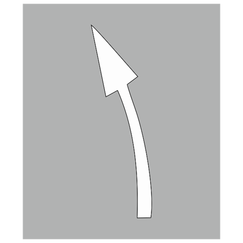 """Трафарет для дорожной разметки 1.19 """"Сужение проезжей части влево"""""""