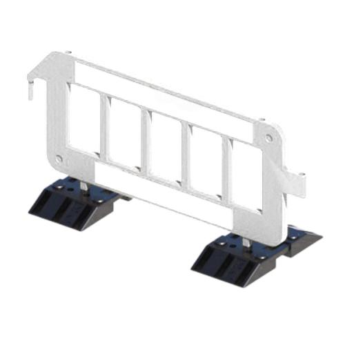 Дорожное пластиковое ограждение штакетного типа P2000 на утяжеленных опорах [белое]