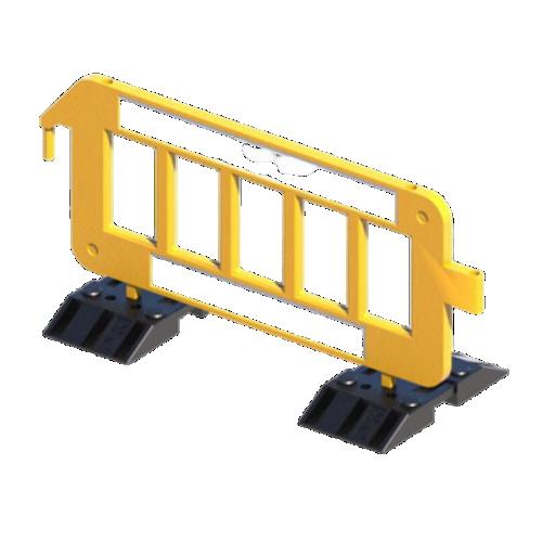 Сигнальное ограждение штакетного типа P2000 на утяжеленных опорах [желтое]