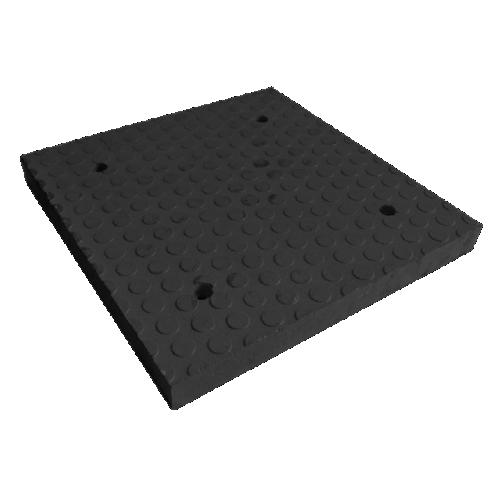 Резиновый приподнятый пешеходный переход ПИН средний элемент (черный)